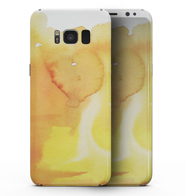 Yellow 53 Absorbed Watercolor Texture - Samsung Galaxy S8 Full-Body Skin Kit