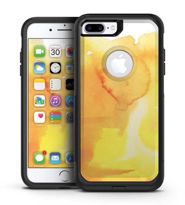 Yellow 53 Absorbed Watercolor Texture - iPhone 7 or 7 Plus Commuter Case Skin Kit