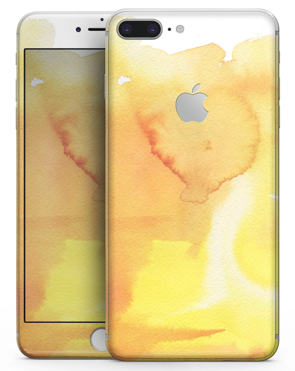 Yellow 53 Absorbed Watercolor Texture - Skin-kit for the iPhone 8 or 8 Plus