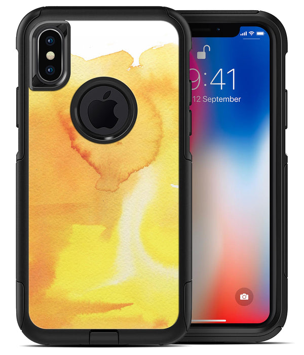 Yellow 53 Absorbed Watercolor Texture - iPhone X OtterBox Case & Skin Kits