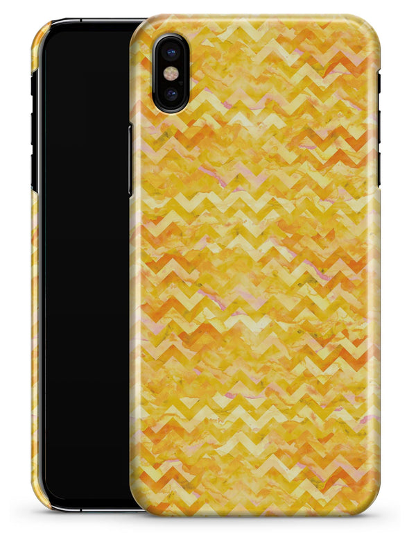 Yellow Basic Watercolor Chevron Pattern - iPhone X Clipit Case