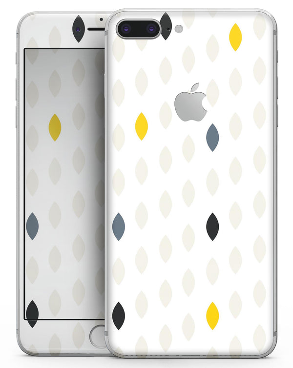 Yellow Gray and Black Droplets - Skin-kit for the iPhone 8 or 8 Plus
