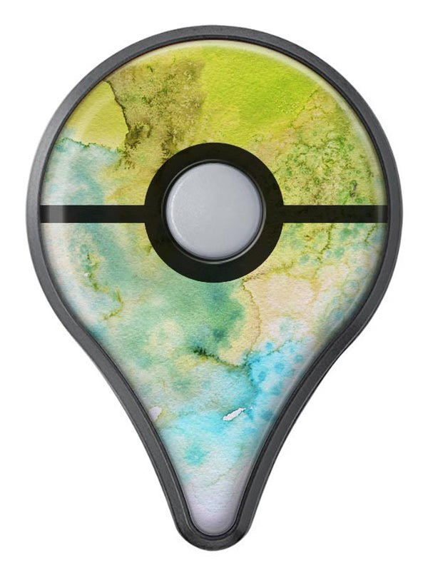 Yellow Green 197 Absorbed Watercolor Texture Pokémon GO Plus Vinyl Protective Decal Skin Kit