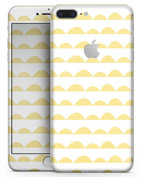 Yellow Rolling Hills - Skin-kit for the iPhone 8 or 8 Plus