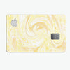 Yellow Slate Marble Surface V21 - Premium Protective Decal Skin-Kit for the Apple Credit Card