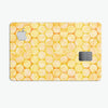 Yellow Sorted Large Watercolor Polka Dots - Premium Protective Decal Skin-Kit for the Apple Credit Card
