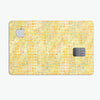 Yellow Textured Triangle Pattern - Premium Protective Decal Skin-Kit for the Apple Credit Card