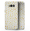 Yellow Watercolor Dots over White - Samsung Galaxy S8 Full-Body Skin Kit