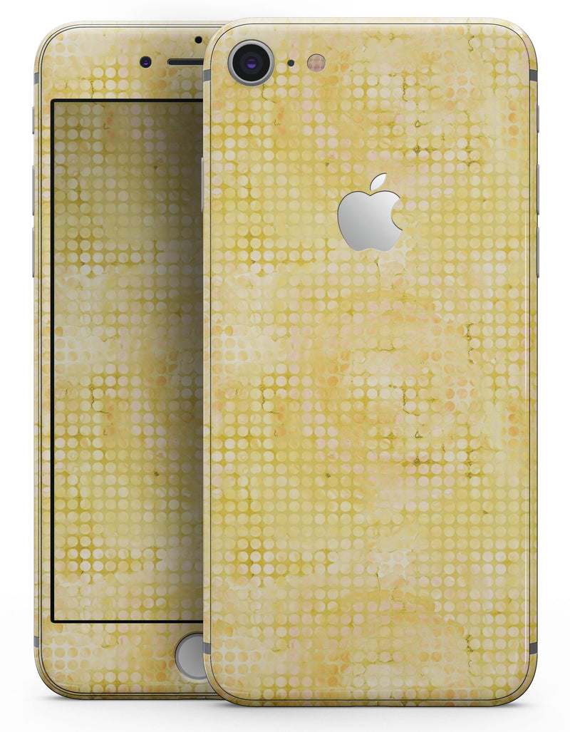 Yellow Watercolor Polka Dots - Skin-kit for the iPhone 8 or 8 Plus