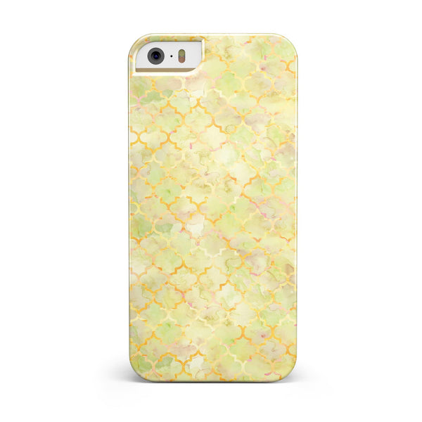 Yellow_Watercolor_Quatrefoil_-_iPhone_5s_-_Gold_-_One_Piece_Glossy_-_V3.jpg