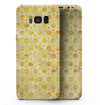 Yellow Watercolor Ring Pattern - Samsung Galaxy S8 Full-Body Skin Kit