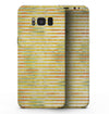Yellow Watercolor Stripes - Samsung Galaxy S8 Full-Body Skin Kit