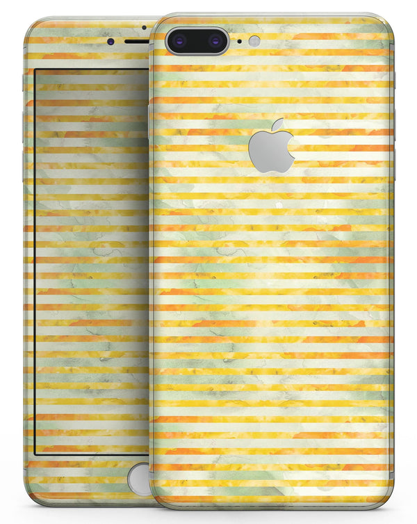 Yellow Watercolor Stripes - Skin-kit for the iPhone 8 or 8 Plus