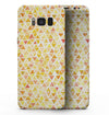 Yellow Watercolor Triangle Pattern - Samsung Galaxy S8 Full-Body Skin Kit