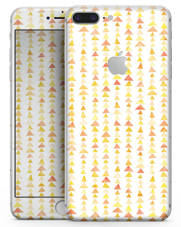 Yellow Watercolor Triangle Pattern V2 - Skin-kit for the iPhone 8 or 8 Plus