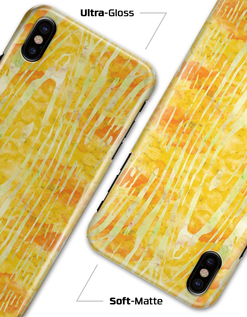 Yellow Watercolor Woodgrain - iPhone X Clipit Case