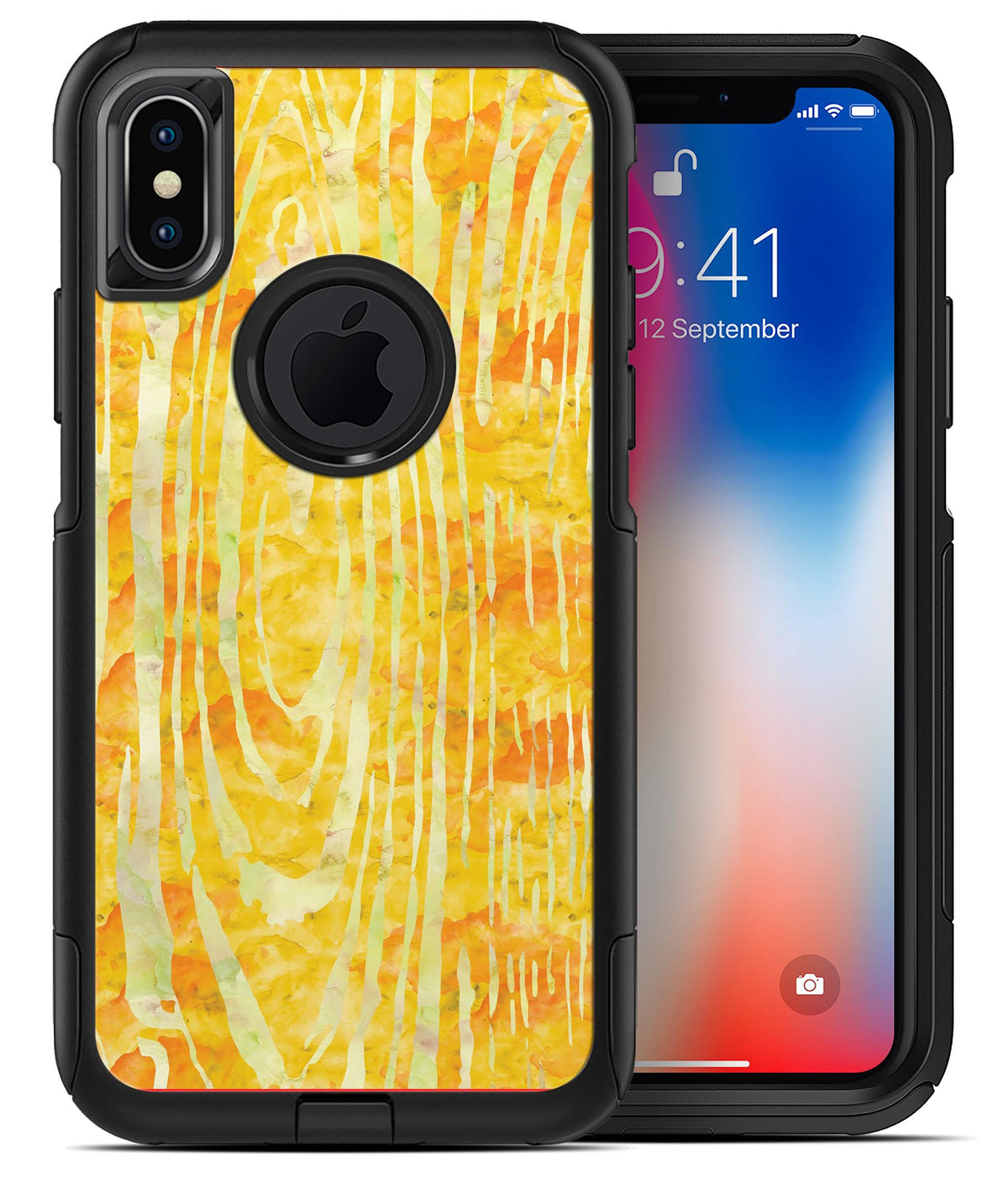 huge discount 9e064 88904 Yellow Watercolor Woodgrain - iPhone X OtterBox Case & Skin Kits