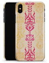 Yellow and Pink Floral Rococo Pattern - iPhone X Clipit Case