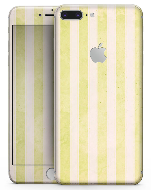 Yellow and White Verticle Stripes - Skin-kit for the iPhone 8 or 8 Plus