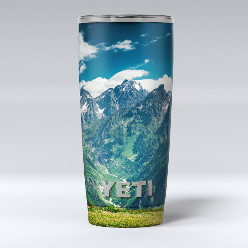 Scenic Mountaintops - Skin Decal Vinyl Wrap Kit compatible with the Yeti Rambler Cooler Tumbler Cups