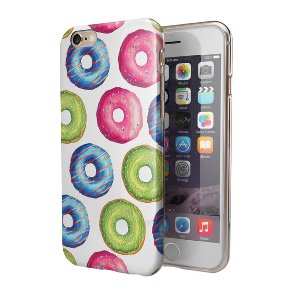 Yummy Colored Donut Galore iPhone 6/6s or 6/6s Plus 2-Piece Hybrid INK-Fuzed Case