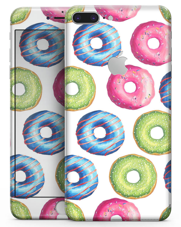 Yummy Colored Donut Galore - Skin-kit for the iPhone 8 or 8 Plus
