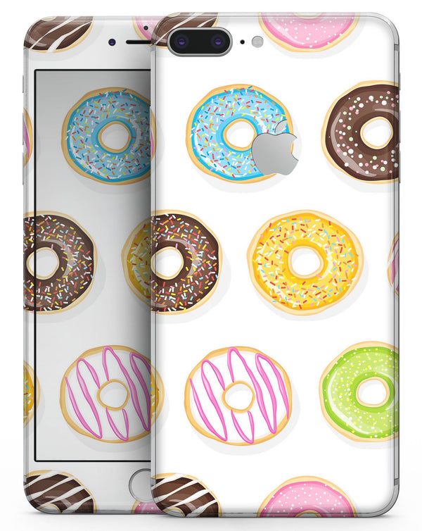 Yummy Colored Donuts - Skin-kit for the iPhone 8 or 8 Plus