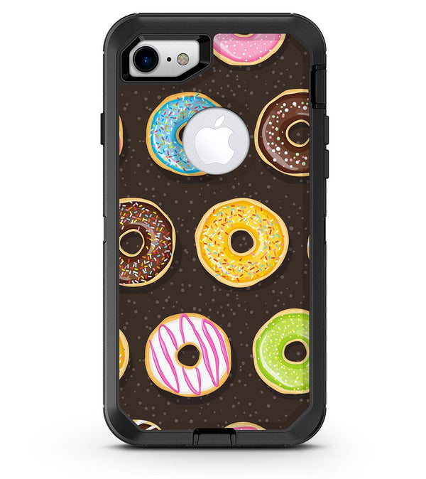 Yummy Colored Donuts v2 - iPhone 7 or 8 OtterBox Case & Skin Kits