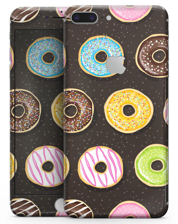 Yummy Colored Donuts v2 - Skin-kit for the iPhone 8 or 8 Plus