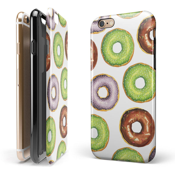 Yummy Donuts Galore iPhone 6/6s or 6/6s Plus 2-Piece Hybrid INK-Fuzed Case