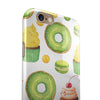 Yummy Galore Bakery Green Treats V1 iPhone 6/6s or 6/6s Plus 2-Piece Hybrid INK-Fuzed Case