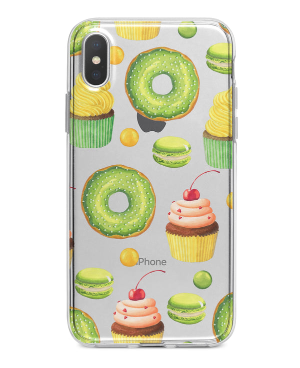 Yummy Galore Bakery Green Treats V1 - Crystal Clear Hard Case for the iPhone XS MAX, XS & More (ALL AVAILABLE)