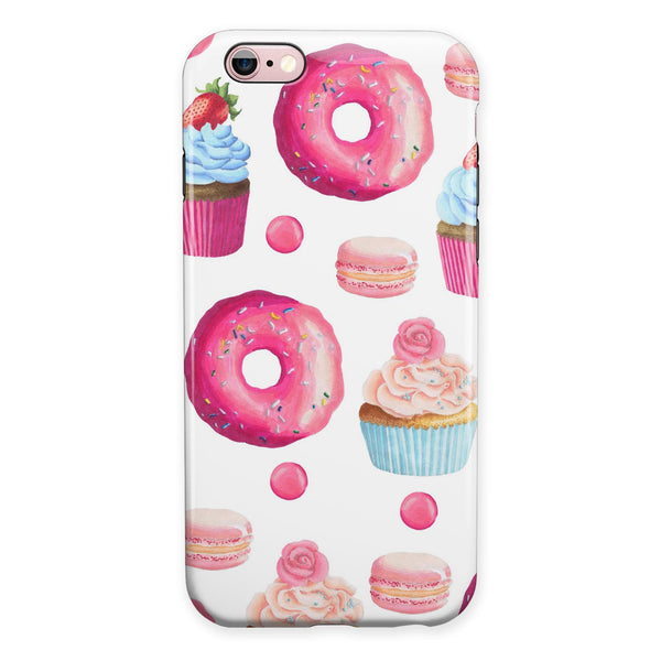 Yummy Galore Bakery Treats iPhone 6/6s or 6/6s Plus 2-Piece Hybrid INK-Fuzed Case