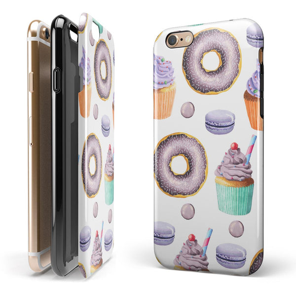 Yummy Galore Bakery Treats v3 iPhone 6/6s or 6/6s Plus 2-Piece Hybrid INK-Fuzed Case