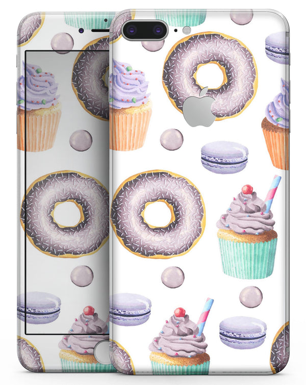 Yummy Galore Bakery Treats v3 - Skin-kit for the iPhone 8 or 8 Plus