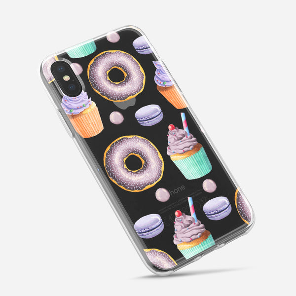 Yummy Galore Bakery Treats v3 - Crystal Clear Hard Case for the iPhone XS MAX, XS & More (ALL AVAILABLE)