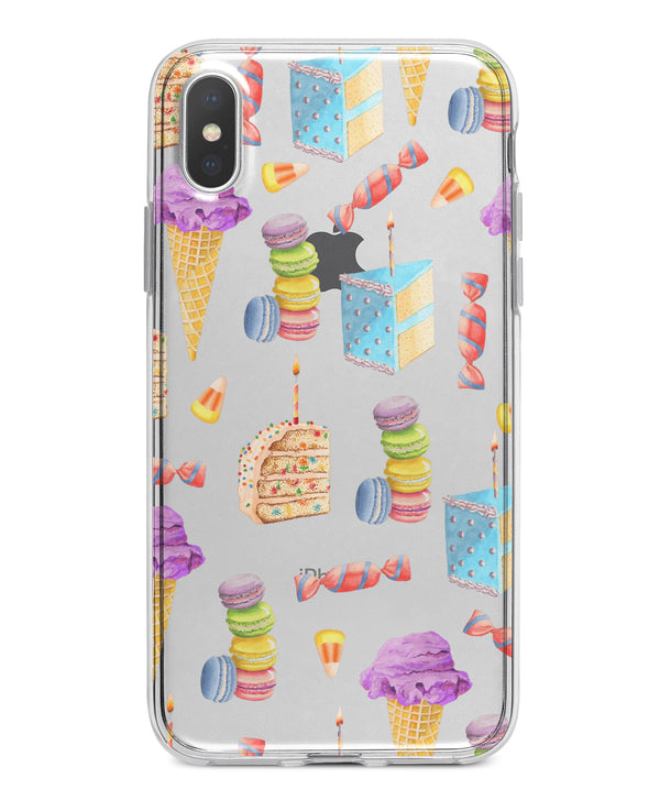 Yummy Galore Bakery Treats v6 - Crystal Clear Hard Case for the iPhone XS MAX, XS & More (ALL AVAILABLE)