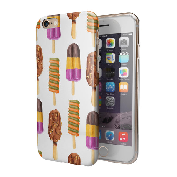 Yummy Galore Ice Cream Treats iPhone 6/6s or 6/6s Plus 2-Piece Hybrid INK-Fuzed Case