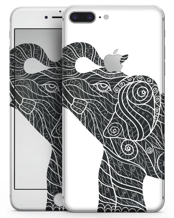 Zendoodle Elephant - Skin-kit for the iPhone 8 or 8 Plus