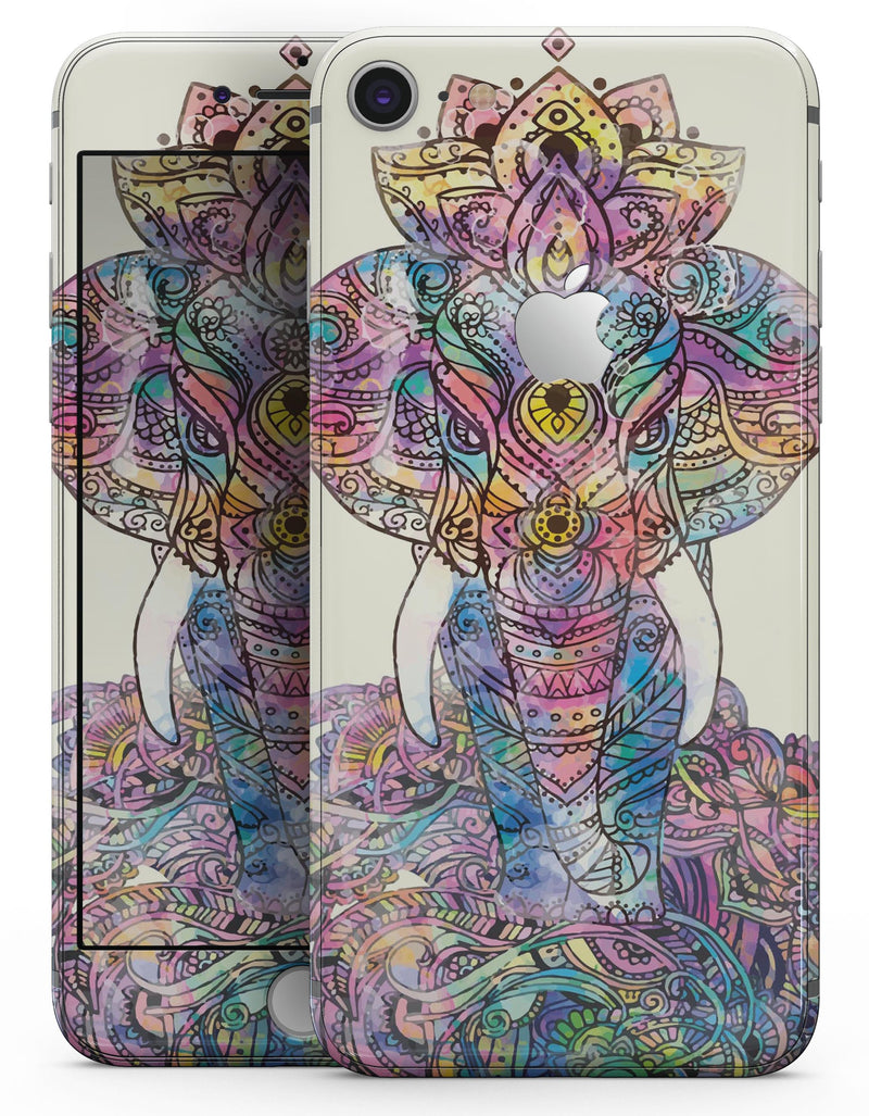 Zendoodle Sacred Elephant - Skin-kit for the iPhone 8 or 8 Plus