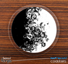 The Abstract Black Swirls Skinned Foam-Backed Coaster Set