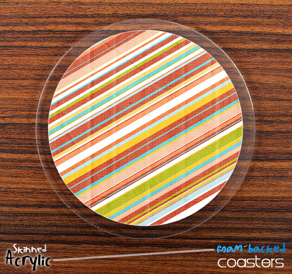 The Vintage Color Striped Skinned Foam-Backed Coaster Set