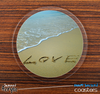 The Beach Love Skinned Foam-Backed Coaster Set
