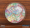 The Colored Swirls Skinned Foam-Backed Coaster Set