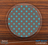 The Gray & Blue Polka Skinned Foam-Backed Coaster Set
