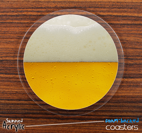 The Cold Beer Skinned Foam-Backed Coaster Set