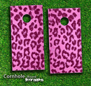 Hot Pink Cheetah Print Skin-set for a pair of Cornhole Boards