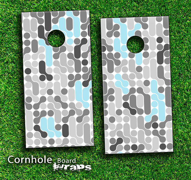 Turquoise genetics Skin-set for a pair of Cornhole Boards