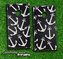 Black Anchor Bundle Skin-set for a pair of Cornhole Boards