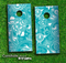 Turquoise Pasiley Pattern Skin-set for a pair of Cornhole Boards